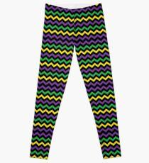 Mardi Gras Chevron Pattern Leggings
