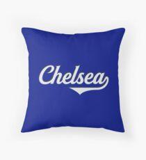Chelsea - England - Vintage Sports Typography Throw Pillow