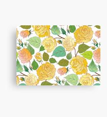 Watercolour Yellow Roses IV Canvas Print