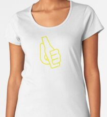 Milwaukee Baseball Drink Up Outlined Women's Premium T-Shirt