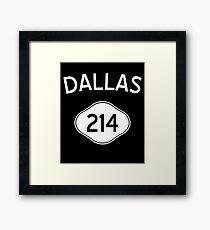Dallas 214 Texas Vintage Area Code Framed Print
