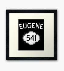 Eugene 541 Oregon Vintage Area Code Framed Print