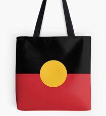 Australian Aboriginal Flag Tote Bag