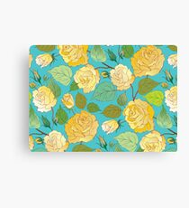 Watercolour Yellow Roses VIII Canvas Print