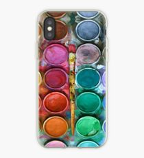 Watercolor Rainbow Flow Abstraction palette iPhone Case