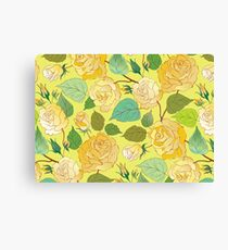 Watercolour Yellow Roses IX Canvas Print