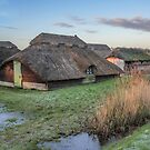 Thatched Boat House at Sunrise by Jim Key