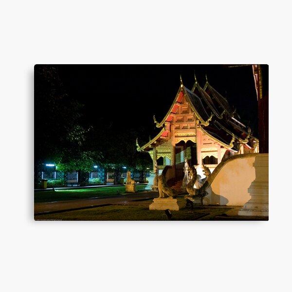 Wat Phra Singh at night Canvas Print