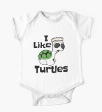 Funny I Like Turtles Meme Shirt  One Piece - Short Sleeve