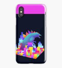Neon city Godzilla iPhone Case/Skin