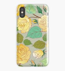 Watercolour Yellow Roses XII iPhone Case/Skin