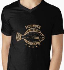Flounder Fish Men's V-Neck T-Shirt
