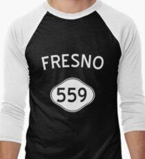 Fresno 559 California Vintage Area Code Men's Baseball ¾ T-Shirt