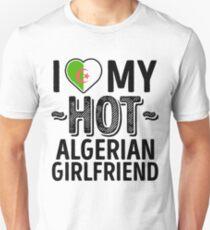 I Love My HOT Algerian Girlfriend - Cute Algeria Couples Romantic Love T-Shirts & Stickers Unisex T-Shirt