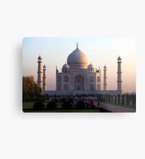 The Taj Mahal at sunrise. Metal Print