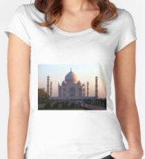 The Taj Mahal at sunrise. Fitted Scoop T-Shirt