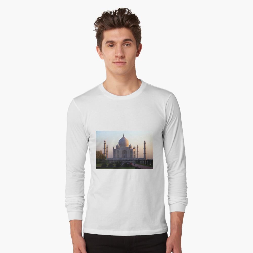 The Taj Mahal at sunrise. Long Sleeve T-Shirt