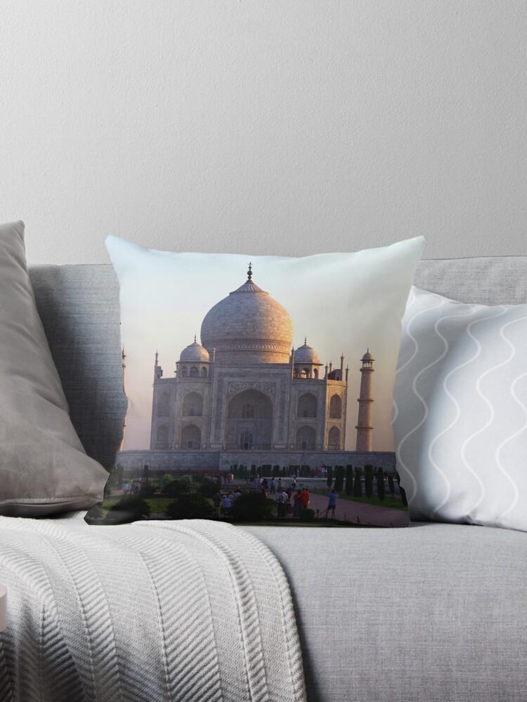 The Taj Mahal at sunrise. by John Dalkin
