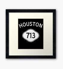 Houston 713 Texas Vintage Area Code Framed Print