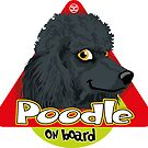 Poodle On Board - Black by DoggyGraphics