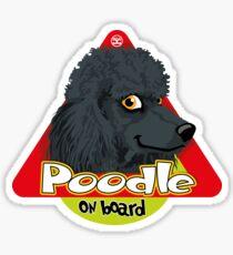 Poodle On Board - Black Sticker