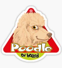 Poodle On Board - Apricot Sticker