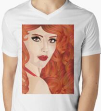 Curly red haired girl T-Shirt