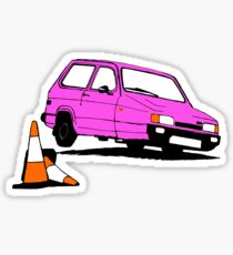 Robin on tilt - pink Sticker