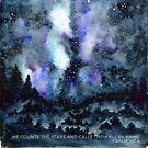 He counts all the stars watercolor and verse Psalm 147:4 by Jeri Stunkard
