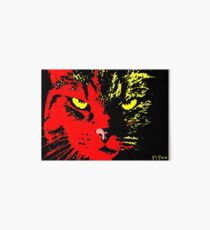 ANGRY CAT POP ART -  RED YELLOW BLACK Art Board