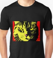ANGRY CAT POP ART - YELLOW BLACK RED Unisex T-Shirt