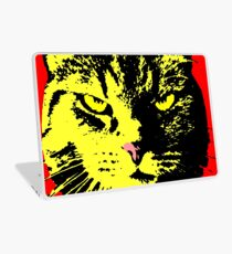 ANGRY CAT POP ART - YELLOW BLACK RED Laptop Skin