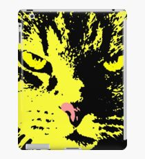 ANGRY CAT POP ART - YELLOW BLACK RED iPad Case/Skin
