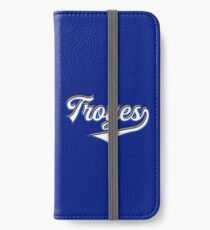 Troyes - France - Vintage Sports Typography iPhone Wallet/Case/Skin