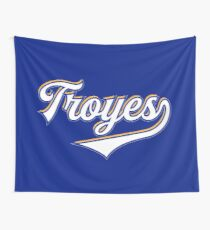 Troyes - France - Vintage Sports Typography Wall Tapestry