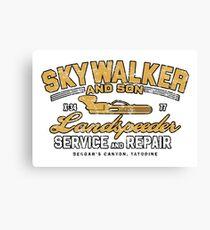 Skywalker & Son LandSpeeder Variant Canvas Print