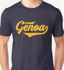 Genoa - Italy - Italia - Vintage Sports Typography Unisex T-Shirt