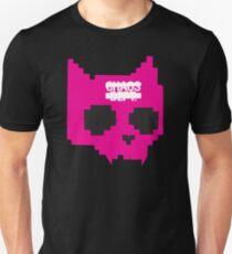 DIGITAL CAT SKULL - PINK Unisex T-Shirt