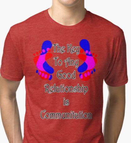 Key To Good Relationship Tri-blend T-Shirt