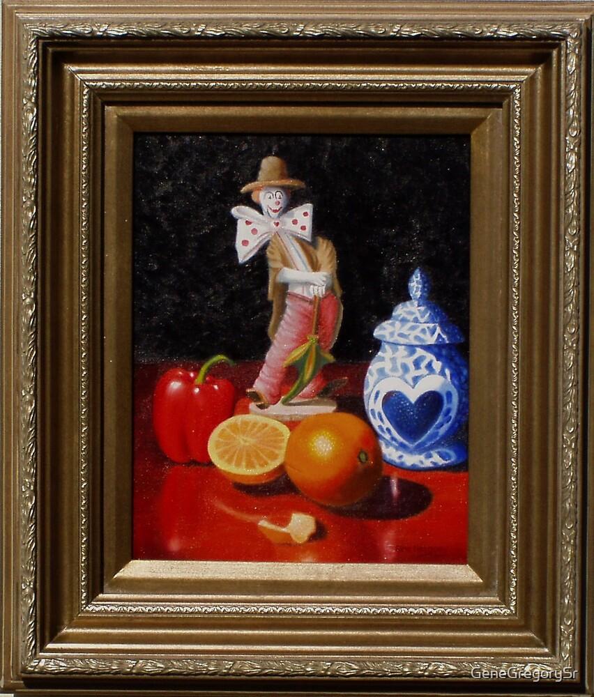 Fruit around clown by GeneGregorySr