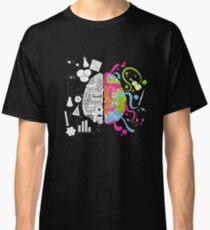 Brain Art Colors Sience Classic T-Shirt