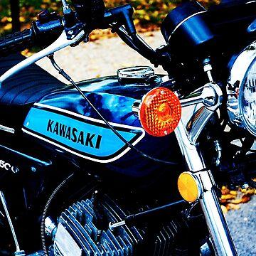 Classic Kawasaki 500 by yourfangirltv