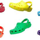 CROCS ON CROCS ON CROCS- Pack of 6 Croc Stickers by TommyFlanagan4