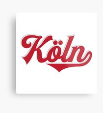 Köln - Cologne - Germany - Vintage Sports Typography Metal Print