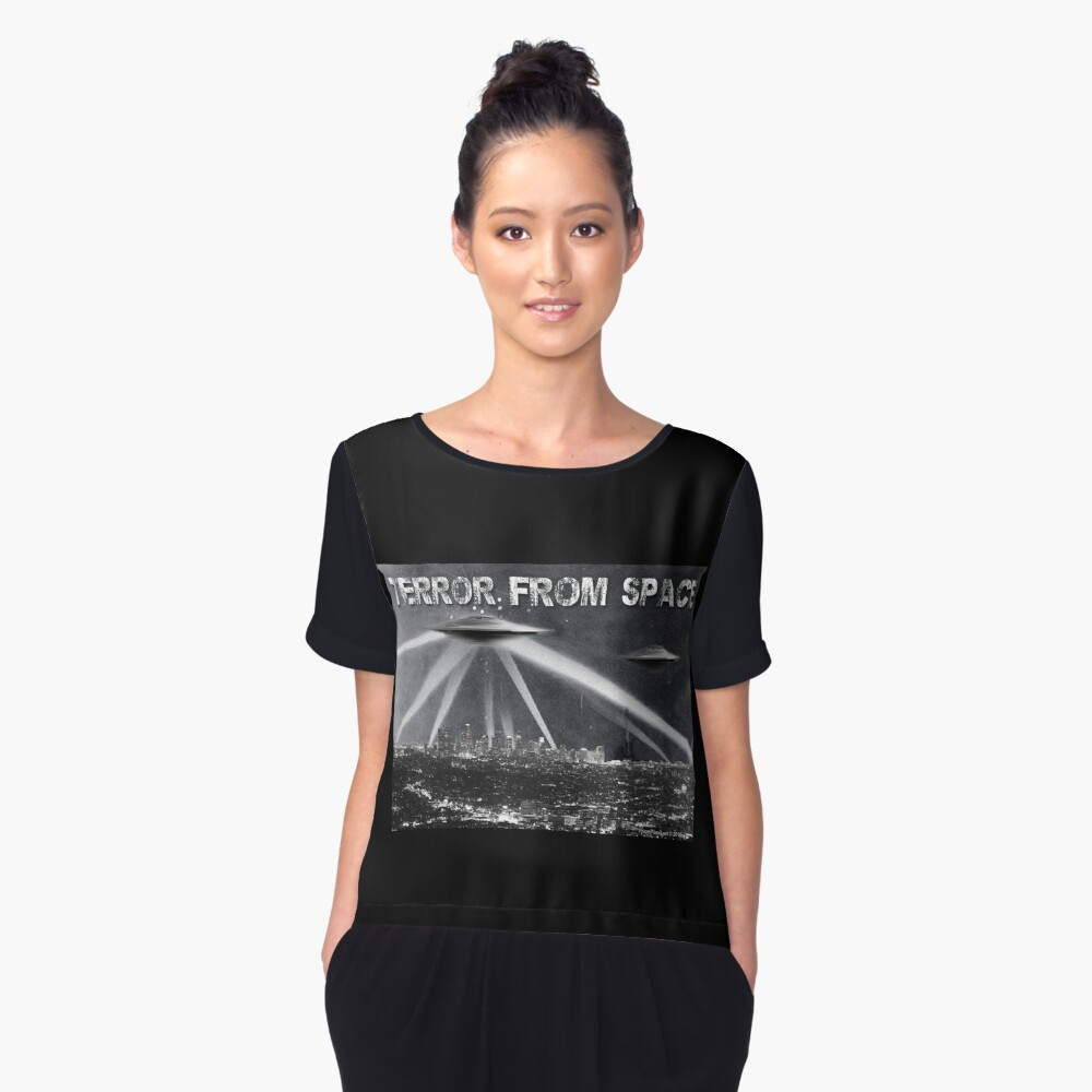 Terror From Space Women's Chiffon Top Front