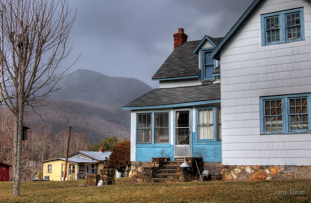 The House with Blue Trim by Jane Best