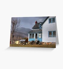 The House with Blue Trim Greeting Card
