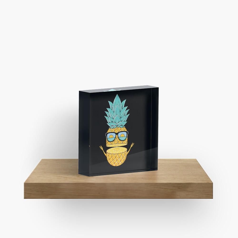 Pineapple Summer Sunglasses Acrylic Block