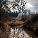 White barn, Nisqually National Wildlifee Refuge by Harv Churchill
