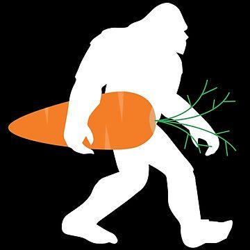 Bigfoot Vegan Vegetarian Funny Design by kudostees